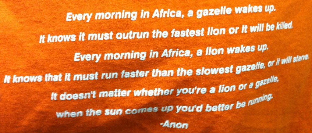 African Gazelle Lion Quote